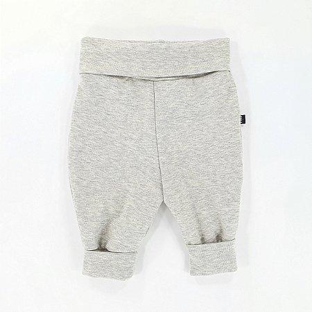 Calça para bebê -  Cós ajustável - Mescla cinza