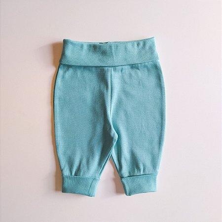 Calça para bebê - Cós ajustável - Aqua