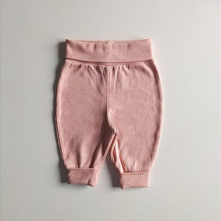 Calça para bebê - Cós ajustável - Rosa claro