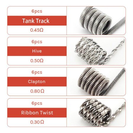 KeepRed 8-in-1 PreBuilt Coils