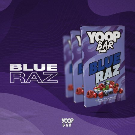 Mr Yoop Bar Pods Blue Raz 6% p/ JUUL