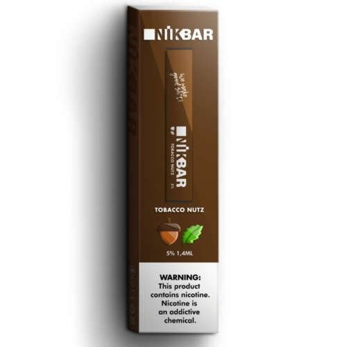 Descartavel - STIG - NikBar - Tobacco Nutz - 5% mg - 300 puffs