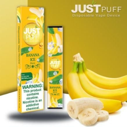 Descartavel - JustPuff - Banana Ice - 450 puffs