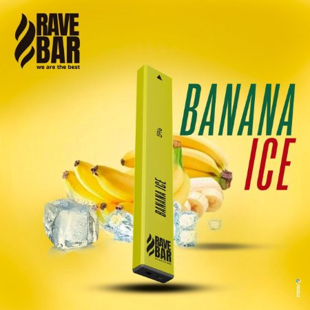 Descartavel - Rave Bar - Banana Ice - 5% mg - 400 puffs