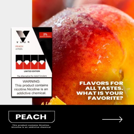 Pod - Vuup - Peach - 6.5% - P/ Juul