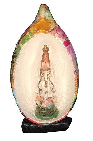 Nossa Senhora De Fátima No Oratório Cabaça - Decoração Casa