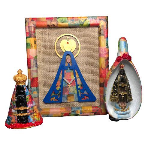 Nossa Senhora Aparecida - Kit Fé - Quadro / Oratório / Imagem