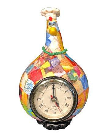 Relógio de Mesa Galinha Cabaça Gourmet - Decoração Cozinha