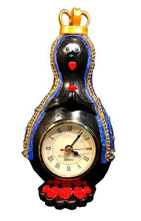 Relógio de Mesa Nossa Senhora Aparecida Artesanal em Cabaça