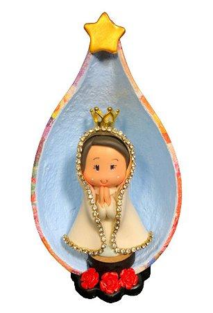 Nossa Senhora De Fátima em Biscuit no Oratório Cabaça