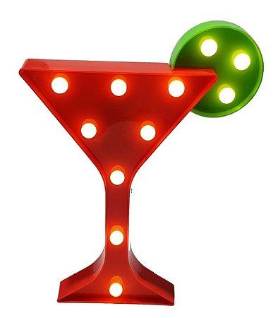 Luminária Led de Mesa e Parede Taça Drink 29cm