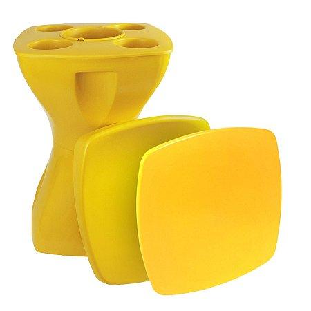 Mesa Banqueta Multiúso Plastable Completa Plus Amarela