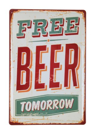 Placa Decorativa Free Beer