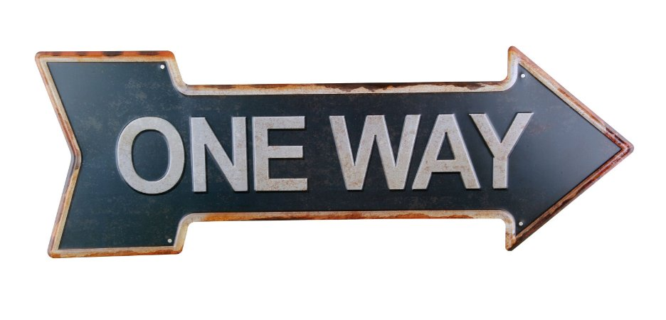 Placa Decorativa One Way