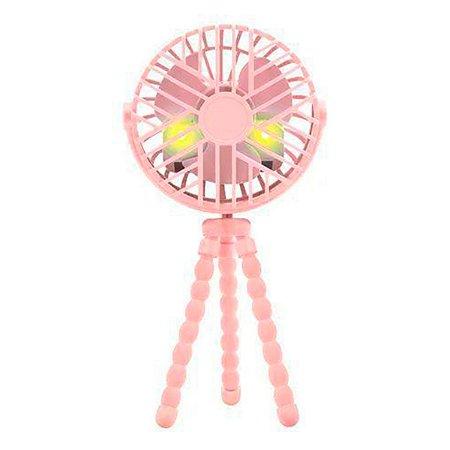 Mini Ventilador Buba Para Berço E Carrinho Rosa
