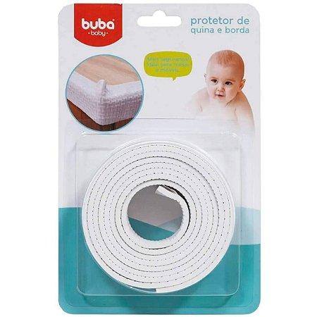 Protetor De Quina E Borda Flexível Em Rolo Buba Branco