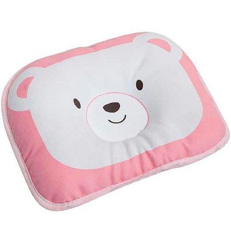 Travesseiro Anatômico Para Bebe Recém-nascido Urso Rosa