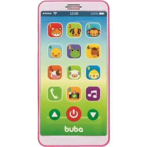 Celular Infantil Buba Baby Phone Musical Rosa