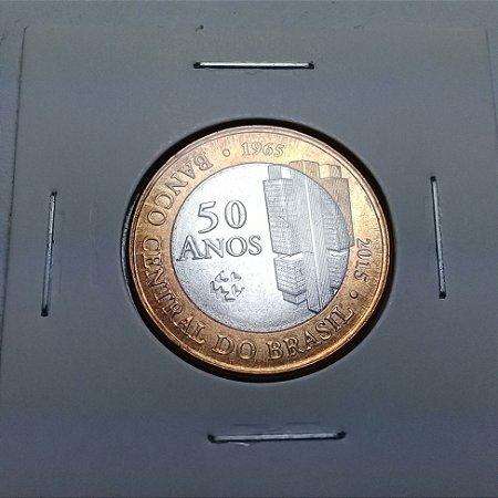 Moeda 1 Real 2015 Comemorativa 50 Anos Banco Central Bimetálica