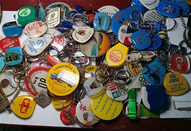 Chaveiros Lote 87 Chaveiros Antigos Vários Modelos e Materiais de Diversos Segmentos