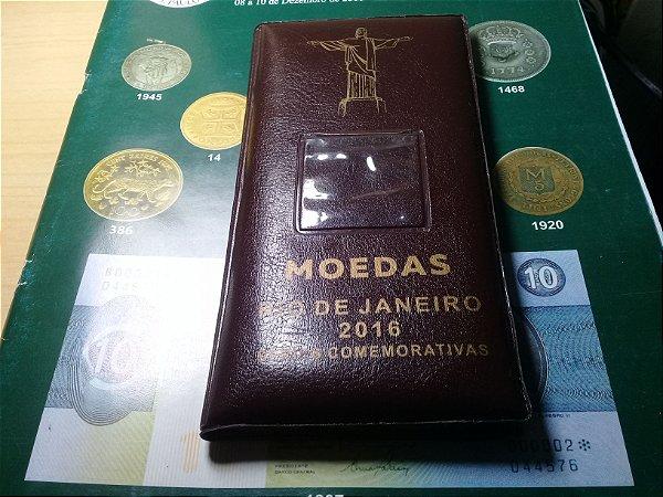 Moedas Olimpíadas 1 Real Bimetálica Álbum com 16 moedas Sem Bandeira