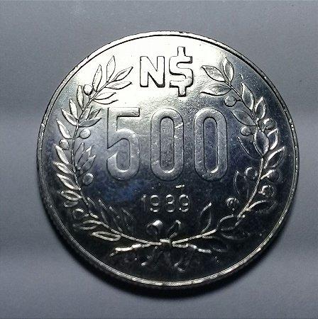 Moeda Uruguai 500 Nuevo Pesos 1989 - Artigas