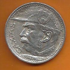 Moeda Brasil Prata 2000 Réis 1935 Caxias