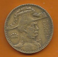 Moeda Brasil 2000 Réis 1938 Poligonal Duque De Caxias Bronze-alumínio