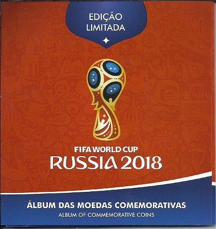 Álbum Completo Das Moedas Comemorativas Copa Da Rússia 2018