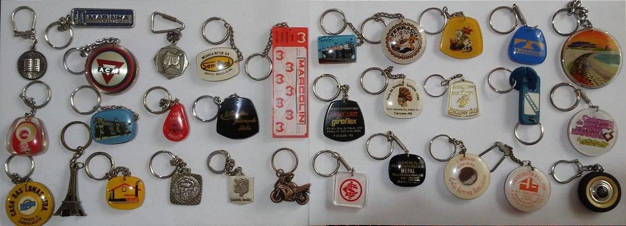 Chaveiro Lote 30 Chaveiros Antigos De Coleção Vários Modelos e Tipos K1