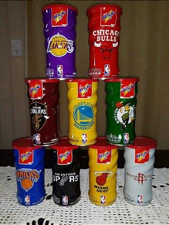 Lote Lata Nescau Comemorativa NBA 9 Latas de Times Diferentes Cheias de Achocolatado
