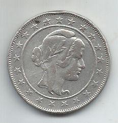 Moeda Brasil Prata 2000 Réis 1924 Mocinha