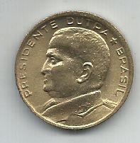 Moeda Brasil 50 Centavos de  Cruzeiros 1956 Presidente Dutra FC  Bronze Alumínio 21,4 mm