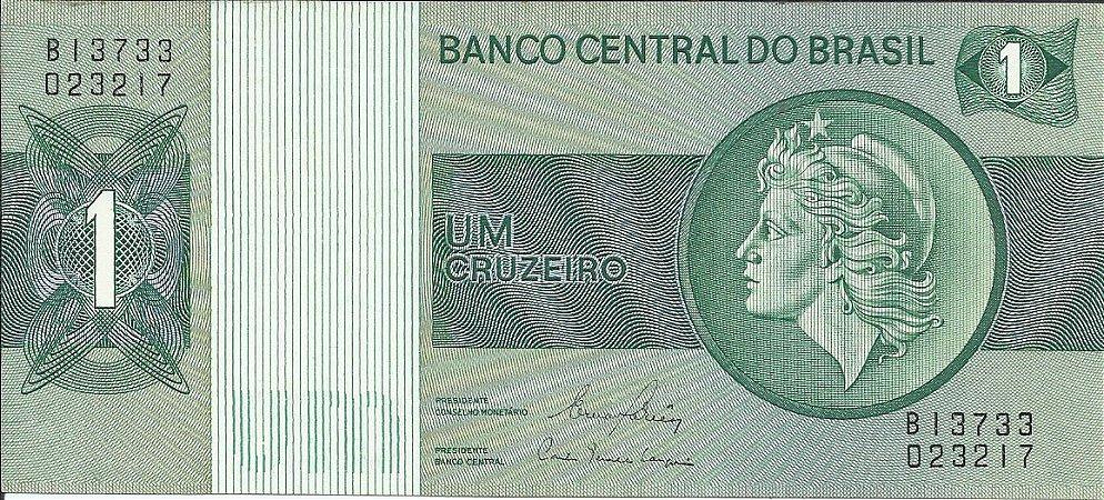 Cédula Brasil 1 Cruzeiro 1980 C132 FE