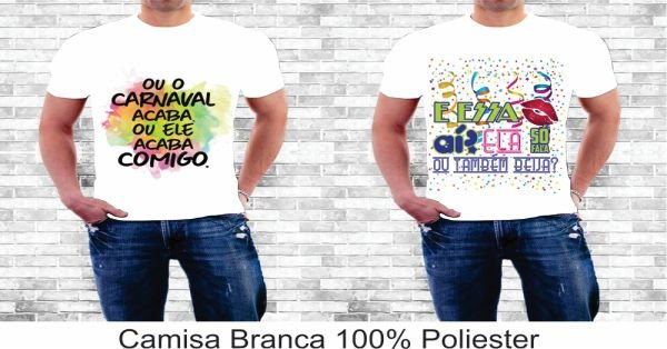 Camisa Personalizada Frases de Carnaval Unissex