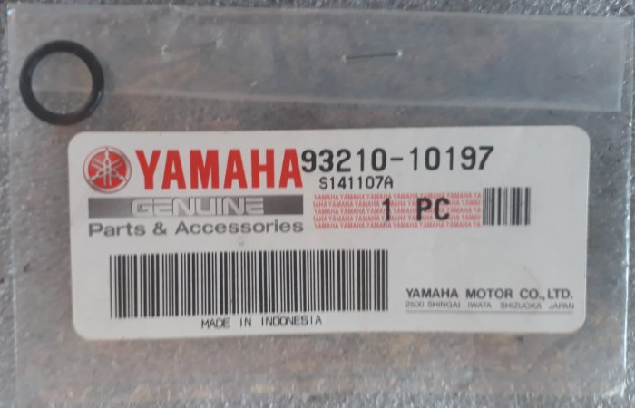 Anel o´ring motos yamaha código 93210-10197