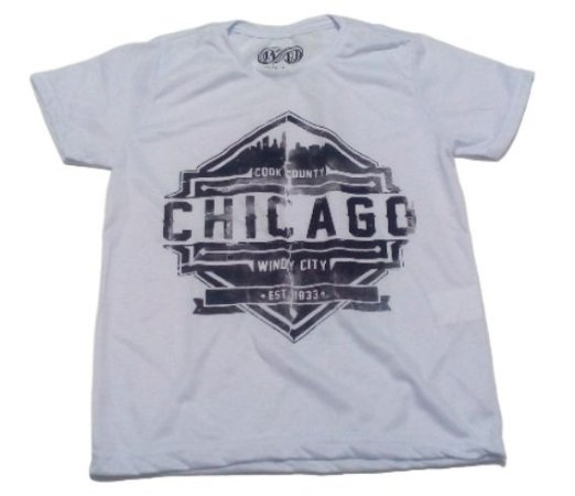 Camiseta  Branco Chicago