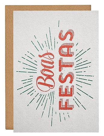 Cartão Boas festas brilho