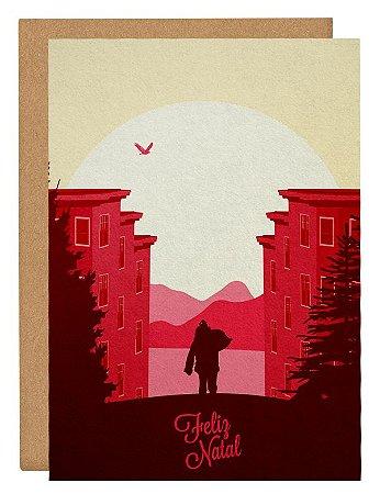 Cartão Noel São Francisco - rosa