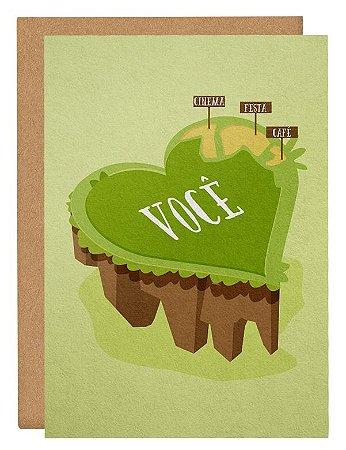 Cartão Ilha do coração