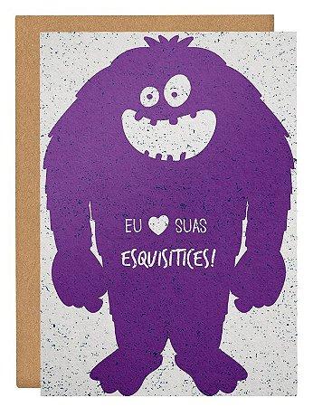 Cartão Amo suas esquisitices