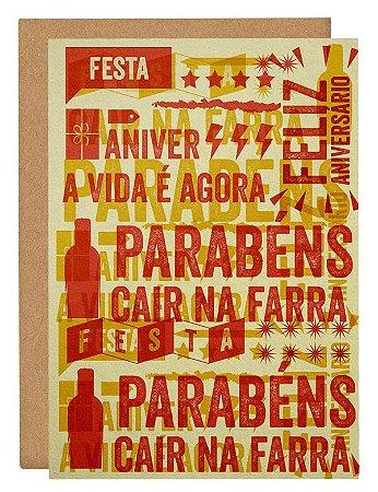 Cartão Festa vermelho