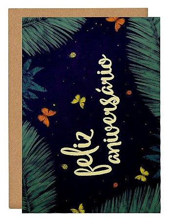 Cartão Aniver tropical