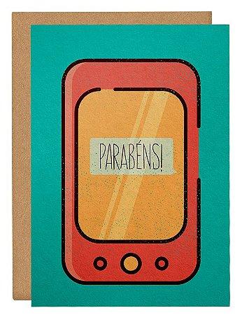 Cartão Parabéns smartphone