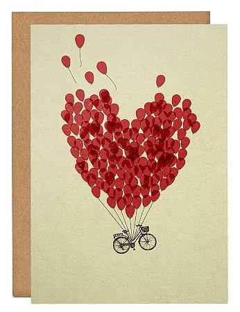 Cartão Bike do amor