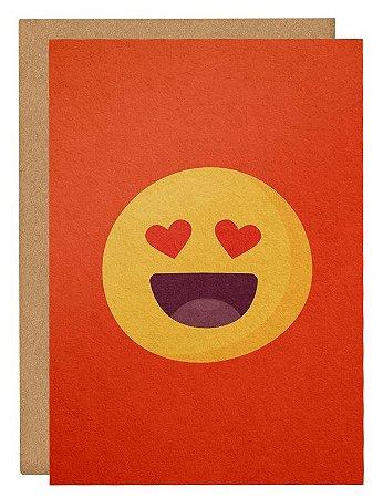 Cartão Emoji apaixonado