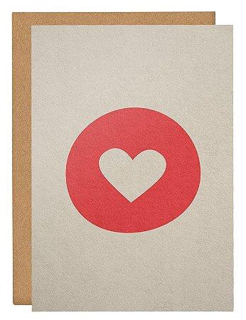 Cartão Emoji coração