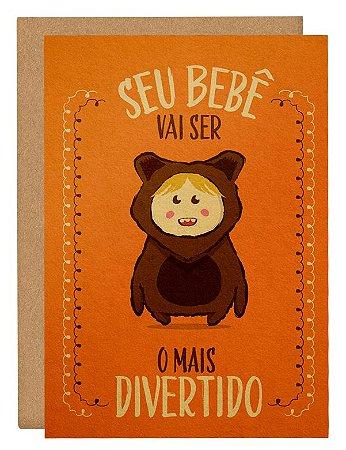 Cartão Bebê ursinho