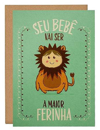 Cartão Bebê leãozinho