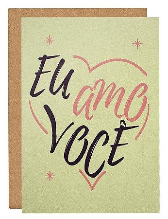Cartão Eu amo você - Bege